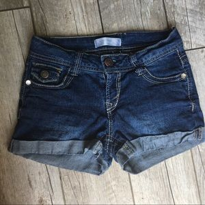 No Boundaries - Low-Rise Stretchy Denim Shorts 3